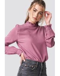 Rut&Circle - Frill Polo Blouse Old Rose - Lyst