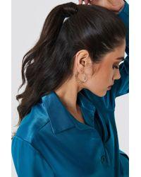 NA-KD - Asymmetric Mini Hoop Earrings - Lyst