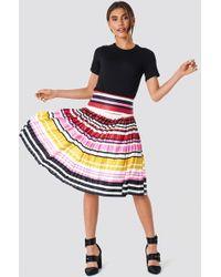 Trendyol - Multicolored Strapless Knitted Skirt - Lyst