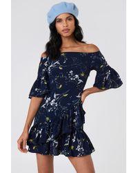 Lucca Couture - Emilia Ruffle Mini Dress - Lyst