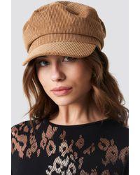 Trendyol - Cord Baker Boy Hat Camel - Lyst
