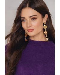 NA-KD - Melted Circles Drop Earrings - Lyst