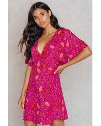 Trendyol   Floral Overlap Dress   Lyst