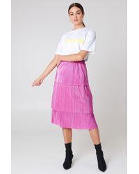 NA-KD - Triple Layer Midi Skirt - Lyst