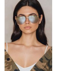 Quay - The Playa Gold/brown Lens - Lyst
