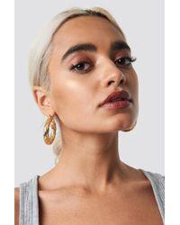 NA-KD - Big Wavy Hoop Earrings Gold - Lyst