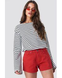 Trendyol - Cutted Hem Denim Shorts - Lyst