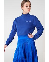 NA-KD - Cool Girl Sweatshirt Cobolt - Lyst