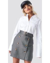 Mango - Espi Skirt Grey - Lyst