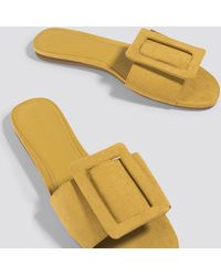 Mango - Buckle Flat Sandals - Lyst
