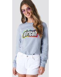NA-KD - Girl Cult Sweatshirt Foggy - Lyst
