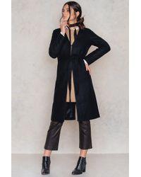 NA-KD | Collarless Wool Coat | Lyst