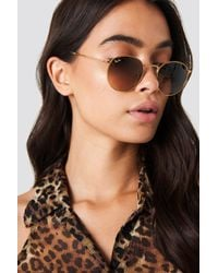 Ray-Ban - Metal Round 1 Shiny Light Bronze - Lyst
