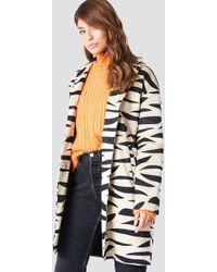 NA-KD - Printed Zebra Jacket Zebra Beige - Lyst