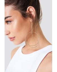 NA-KD - Double Circles Earring Gold - Lyst