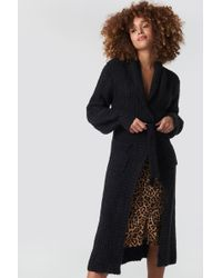 Rut&Circle - Long Belt Cardigan Black - Lyst