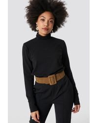Trendyol - Wide Buckle Belt Tobacco - Lyst