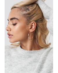 NA-KD - Layered Structured Hoop Earrings Gold - Lyst
