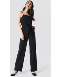 Trendyol - Spaghetti Strap Jumpsuit Black - Lyst