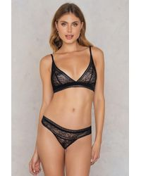 CALVIN KLEIN 205W39NYC - Black Obsess Thong - Lyst