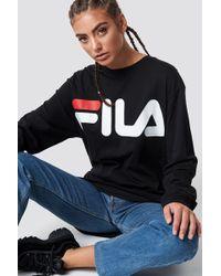 69ed8cd797aa Fila Classic Logo Hoody Black in Black - Lyst