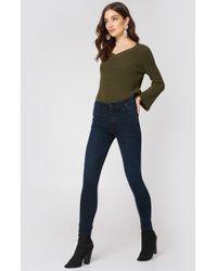 Mango - Soho Skinny Jeans Open Blue - Lyst
