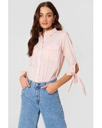 Rut&Circle - Nicole Pocket Shirt Pastel Pink - Lyst