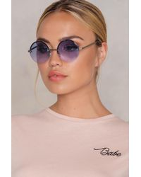 NA-KD | Round Colored Sunglasses | Lyst