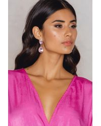 NA-KD | Hanging Colored Diamond Earring | Lyst