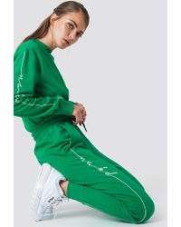 NA-KD - Branded Sweatpants Strong Green - Lyst