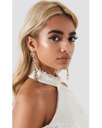 NA-KD - Long Hanging Blossom Earrings - Lyst