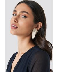 Mango - Pisa Earrings Ivory - Lyst