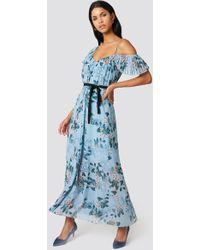 French Connection - Kioa Maxi Dress Pavilion Blue Multi - Lyst