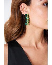 NA-KD - Hanging Rhinestone Stud Earrings - Lyst