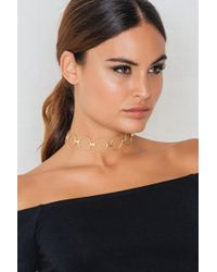 NA-KD - Structured Multi Ring Choker - Lyst