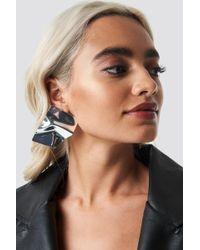 NA-KD - Big Shield Earrings Silver - Lyst