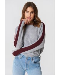NA-KD   Contrast Sleeve Knitted Jumper   Lyst