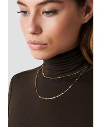 NA-KD - Double Star Necklace - Lyst