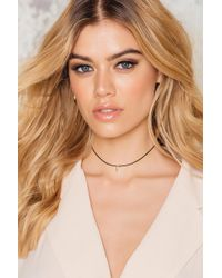 NA-KD - Gold Plated Tooth Pu Choker - Lyst