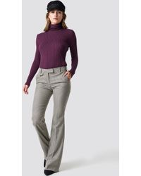 Mango - Peonia Trousers Brown - Lyst