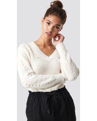 Mango - Genzov Sweater Light Beige - Lyst