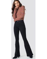 Dr. Denim - Macy Flared Jeans Black - Lyst
