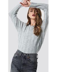 Trendyol - Yol Knitted Sweater Gray - Lyst