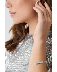 NA-KD - Clean Bar Bracelet Silver - Lyst