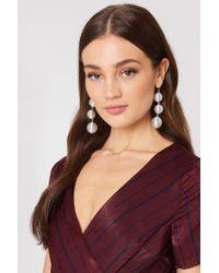 NA-KD - Metallic Triple Globe Drop Earrings - Lyst