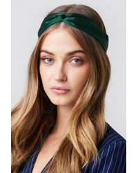 NA-KD - Satin Hairband Dark Green - Lyst