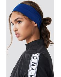 NA-KD - Basic Hairband Dark Blue - Lyst