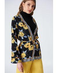 NA-KD - Yellow Flower Kimono - Lyst