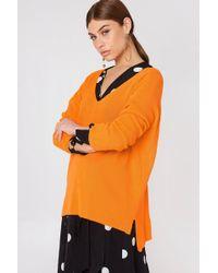 Trendyol - V-neck Basic Knit - Lyst