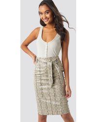 NA-KD - Belted Snake Skin Skirt Snake - Lyst